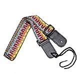 Ukulele Strap, MUKE Adjustable Soft Cotton Ukulele Shoulder Strap with Leather Ends