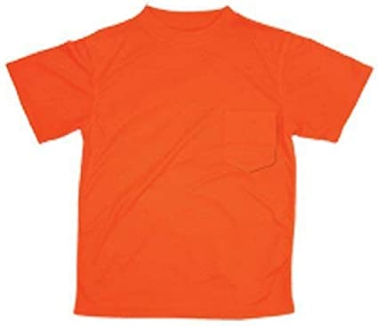 ML KISHIGO - Camiseta de Manga Corta de Microfibra de poliéster, Color Naranja, 5XL, Naranja, 1