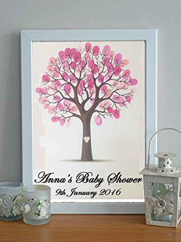 Fancy Pants Frame (Brand New Personalised Baby Shower Fingerprint Tree With White Frame & Pink Ink Pad by Fancy Pants Store)