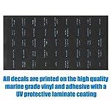 2 pcs Decal Sticker Label Sheet for Caravan Marine