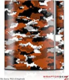 Sony PS3 Skin WraptorCamo Digital Burnt Orange