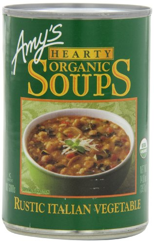 Amy's Hearty Organic Soups, Rustic Italian Vegetable, 14 Ounce (Pack of 12)