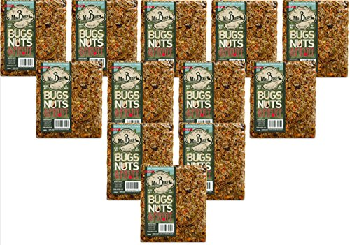 12-Pack of Mr. Bird Bugs, Nuts, Fruit Large Wild Bird Seed Cake 1 lb. 10 oz.