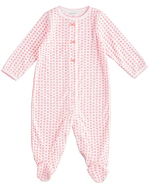 Baby Girls' Floral Terry Footie