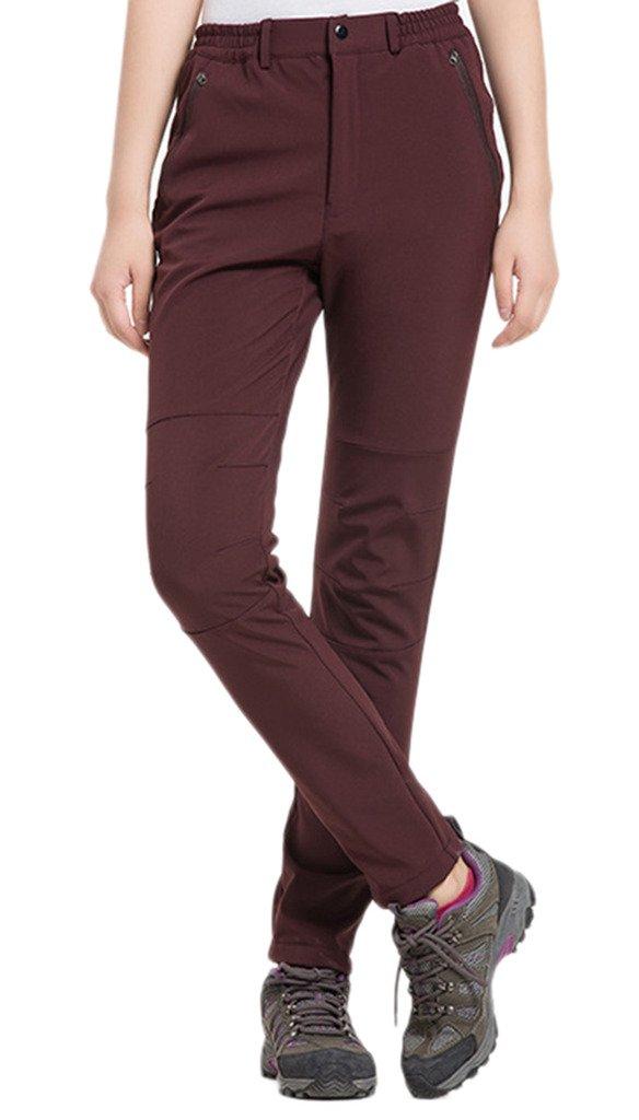 Zoe Fashion Women's Windproof Softshell Fleece Ski Pants