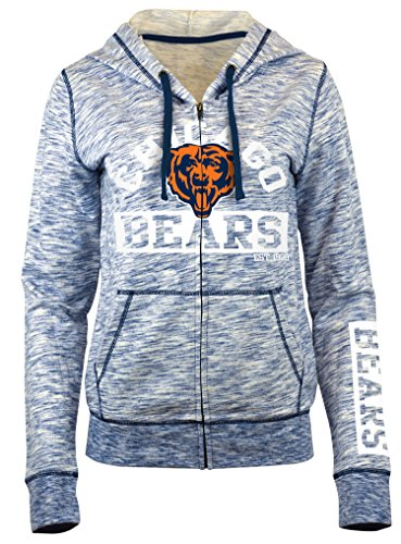 Nfl Jersey Design - A-Team Apparel NFL Chicago Bears Women's Space Dye French Terry Hoodie, Navy, Small