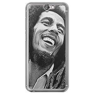 Loud Universe HTC One A9 Bob Marley Printed Transparent Edge Case - Black