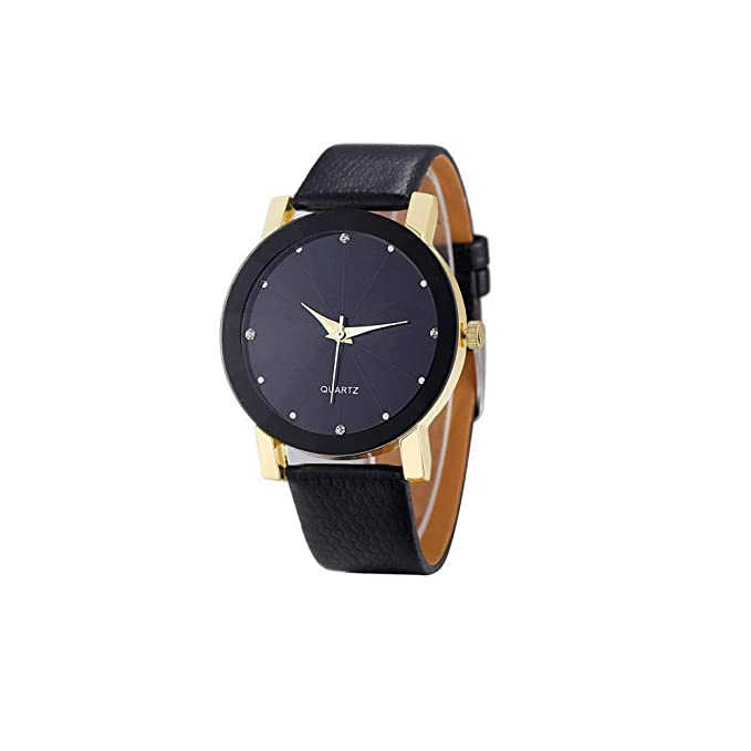 Amazon.com: Watches for Men, WoCoo Ultra-Thin Quartz Analog Date Wrist Watch with Leather Strap(Gold): Kitchen & Dining