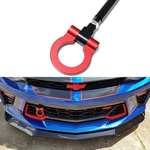 Xotic Tech Aluminum Alloy Racing Sport Tow Hook Fit Chevrolet Camaro 6 Generation 2016+, Red