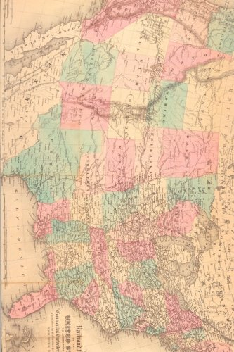 Antique 1871 Map of the United States Railroad System Journal: Take Notes, Write Down Memories in this 150 Page Lined Journal - 1871 Antique Map