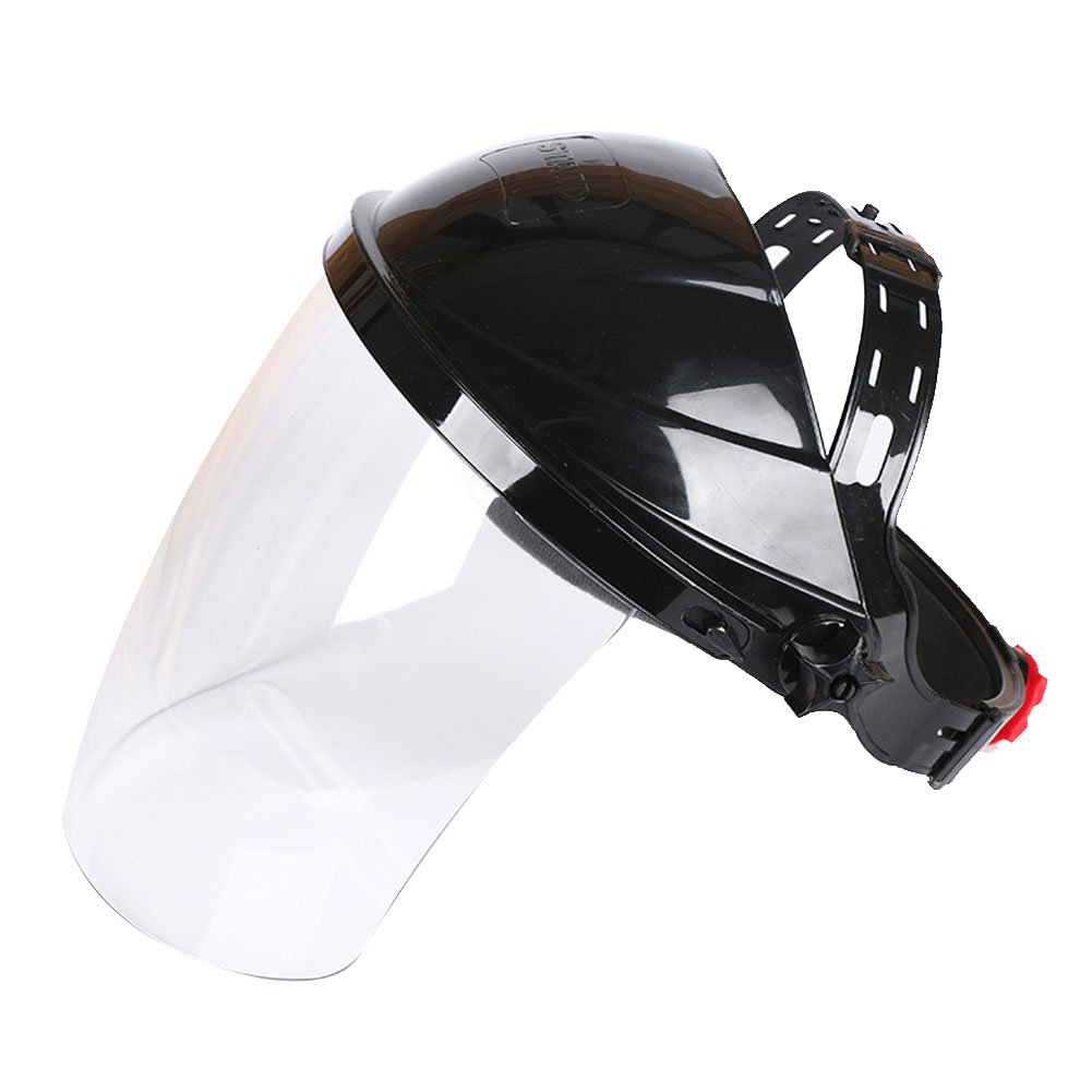 Face Shield, industrieller klar Sicherheit Face Shield und breit Visier, klar Anti-Fog Fenster Sicherheit Mask Face Shield Sicherheit Eye Protection Face Cover Visier mit verstellbarer Ratsche Kopfbedeckung Soldmore7