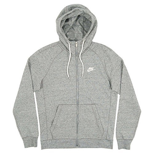 Nike Mens Sportswear Legacy Hooded Sweatshirt Carbon Heather Grey/Sail 805057-092 Size X-Large