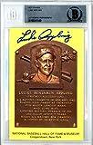 Luke Appling Autographed HOF Plaque Postcard Chicago White Sox Beckett BAS #10541149