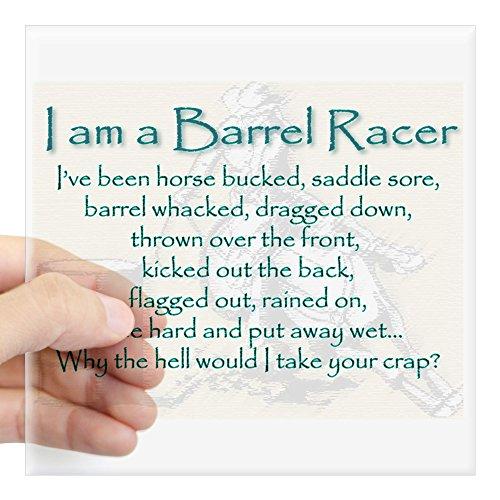 CafePress I Am A Barrel Racer Sticker Square Bumper Sticker Car Decal, 3