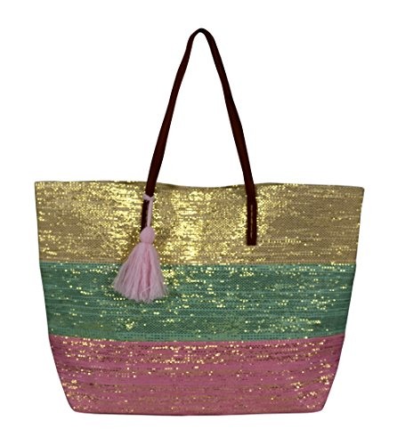 Bags Travel Gold Couture Handbags Tote Hobo Weave Pink Mint Shoulder Large Peach 4afAww