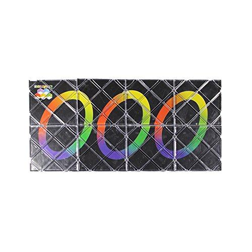 GoodPlay LingAo 8 Panels 3 Rings Magic Folding Puzzle Cube Twisty Black