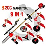 2017 New 2 stroke 52cc 1.75kw 9 in 1 Pole Chainsaw Hedge Trimmer...