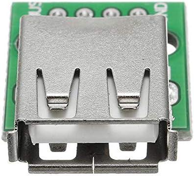 Módulo electrónico USB 2.0 femenina de cabeza hueca for sumergir 2.54mm Pin 4P Adaptador Junta 2pcs Equipo electrónico de alta precisión