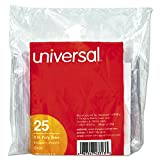Universal 43313 1/3-Cut Hanging File Folder Plastic Index Tabs