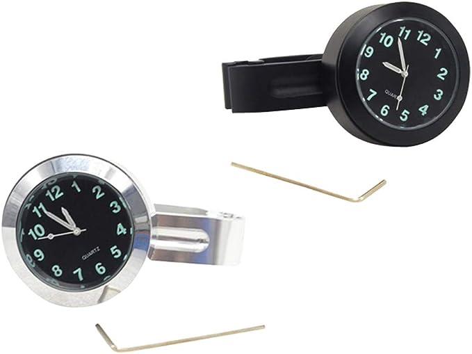 Domilay Motorrad Zubehoer Lenker wasserdichte Uhr schwarz