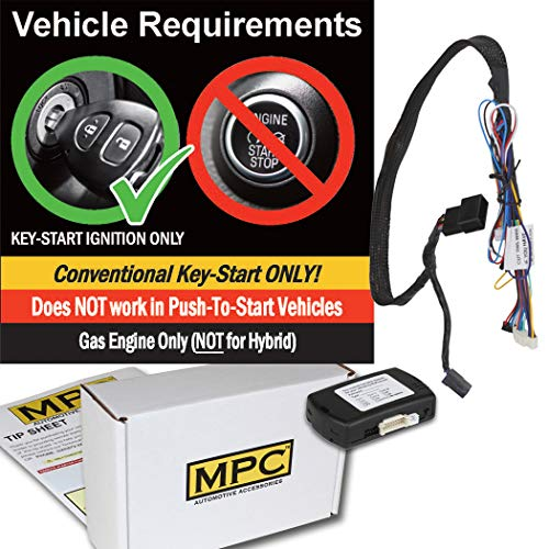 MPC Complete Factory Remote Activated Remote Start Kit for Jeep Wrangler 2007-2018 - Plug-n-Play - Firmware Preloaded