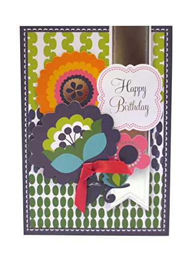 Anna Griffin Happy Birthday Floral Layers with Mixed Print with Metallic
