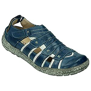 Miccos Shoes womens Velcro shoeVelcro shoe jeansblue/white