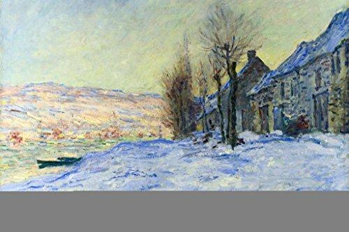 (Claude Monet Lavacourt Under Snow Mural Giant Poster 54x36 inch)