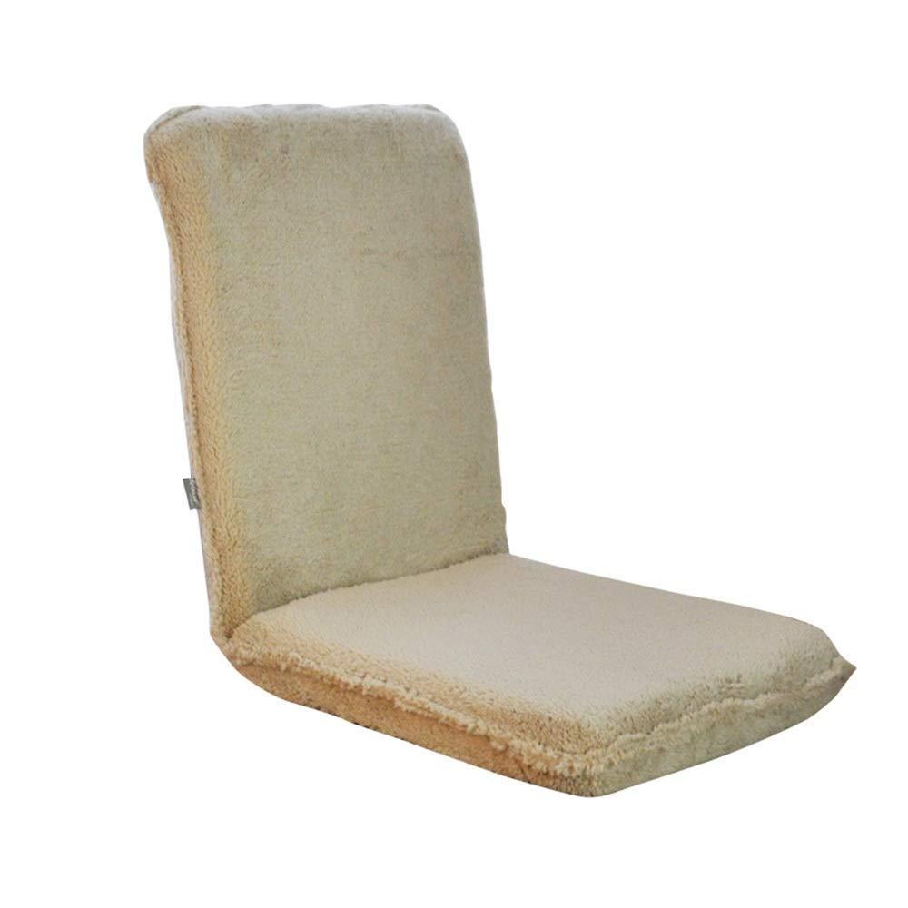 Braun ACZZ Schwerelosigkeits-Stuhl, faltender stützender, fauler Couch Tatami japanischer Computer-Schlafzimmer-Klappstuhl einzelnes nettes Bett-Mädchen-rückseitiges Fenster-Fenster-Stuhl 116.5X48.5X8.5Cm,