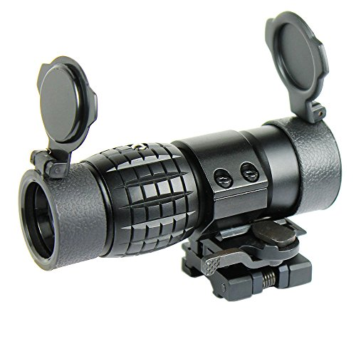 Lukher Tactical 3X Magnifier with FTS Flip to Side Mount Fits Holographic and Reflex Sights
