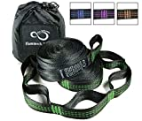 Live Infinitely Hammock Hanging Tree Straps- Adjustable 16 Loop Per Strap - Stretch Resistant Poly Filament Webbed Straps with Triple Stitched Connection Points & Cinch Top Carrying Bag (14' Green)