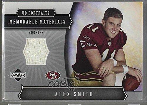 Alex Smith (Football Card) 2005 Upper Deck Portraits - Memorable Materials - Deck 2005 Portraits Upper