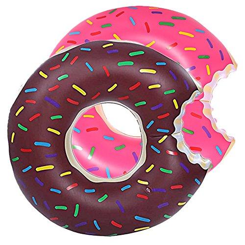 DMAR 60 CM Pool Floats for Kids Inflatable Donut Pool Float Swim Rings Single 60cm Diameter ()