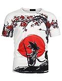 Detroital Unisex Dragon Ball Z Goku T-Shirt 3D Graphic Printed Anime Short Sleeve Tee(2XL Multicolor07)