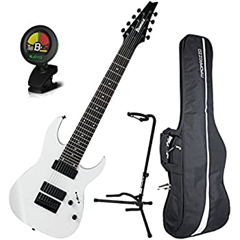 ibanez rg8 8 string electric guitar white w gig bag tuner and stand musical. Black Bedroom Furniture Sets. Home Design Ideas