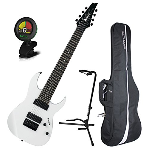 Ibanez RG8 8-String Electric Guitar White w/ Gig Bag, Tuner, and Stand (Ibanez Stand)