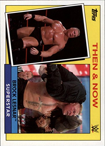 2015 Topps Heritage WWE Then and Now #4 Brock Lesnar