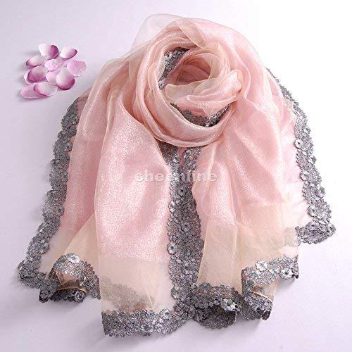 Moda Scialle Ragazza Chiffon Sciarpa Euzeo Floreale Donna elstera In Chic Con Stampa A Lunga Elegante Rosa Fiori dw6wO
