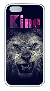 Cool King Cover Case Skin for iPhone 5 5S Soft TPU White