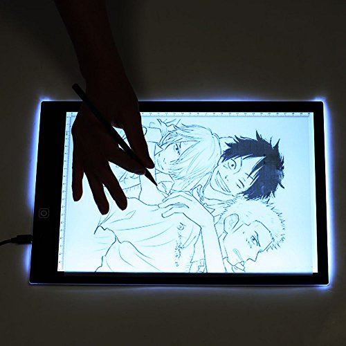 Eb A4 Tracing Light Box LED Ultra-Thin Light Pad Portable Artist Drawing Tattoo Board Pad Table Stencil Display by Baby Elephant (Image #6)