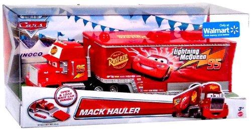 amazoncom disneypixar cars exclusive die cast vehicle mack hauler 155 scale toys games - Disney Cars Toys Truck