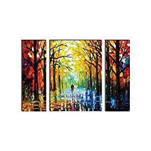 SAF Watercolor Modern Art Painting (Synthetic, 24 inch x 18 inch, Set of 3) SANFWF9201