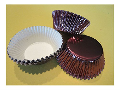 48 Brown Foil Cupcake Liners Baking Cups Cake, Candy, Cookie Decorations U.S Top Seller!
