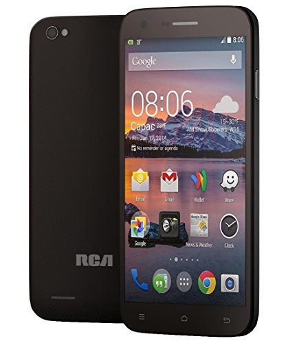 RCA G1 5.5'' Hd, Unlocked Dual Sim, 8Mp Camera, 8Gb Rom, 1Gb Ram, android 4.4 – Black by RCA (Image #1)