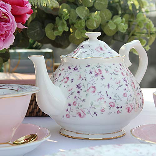 MTcadelon Royal Garden English Bone China Service /à th/é en Porcelaine Anglaise