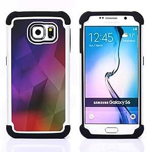 For Samsung Galaxy S6 G9200 - geometrical structure modern art colorful Dual Layer caso de Shell HUELGA Impacto pata de cabra con im??genes gr??ficas Steam - Funny Shop -
