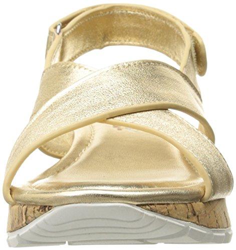 Skechers Cali Paso a Paso-dentado de la estrella del vestido de la sandalia Gold