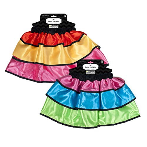 Set of 4Tri-Colored Day of The Dead Children's Skirts! (4 Skirt Pack)]()
