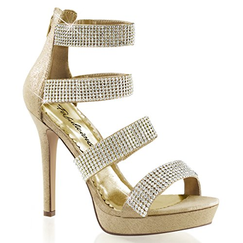 Gold Gold caña Dorado Mujer Heels de alta Perfect Pantuflas qxx0T1p