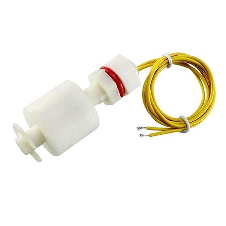 Sourcingmap - Interruptor de flotador del tanque de pescados sensor de nivel de agua líquida verticales